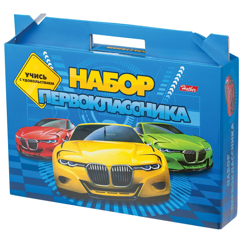 """Набор для первоклассника в подарочной упаковке """"Машины"""", HATBER, Нп4 17892"""