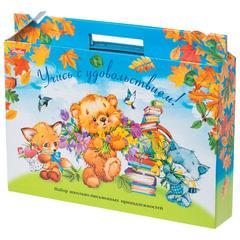 """Набор для первоклассника в подарочной упаковке """"Медвежата"""", HATBER, Нп4_17354"""