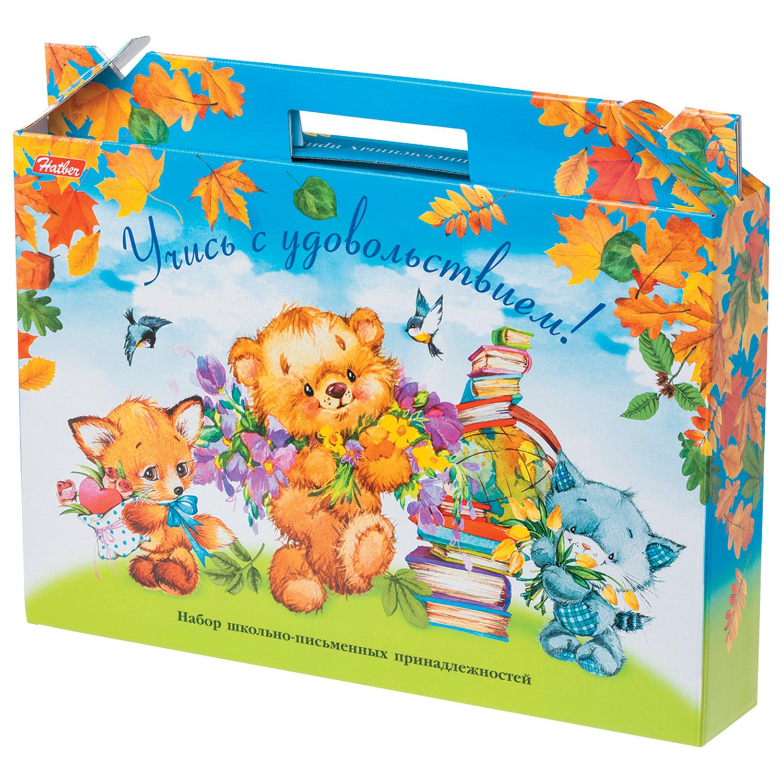 """Набор для первоклассника в подарочной упаковке """"Медвежата"""", HATBER, Нп4 17354"""