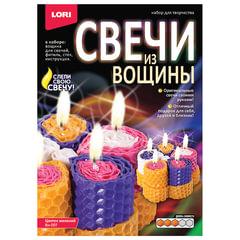 """Набор для изготовления свечей из вощины """"Цветок желаний"""", восковые пластины, фитиль, стек, LORI"""