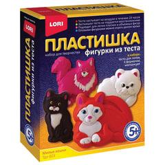 """Набор для изготовления фигур из теста ПЛАСТИШКА """"Милые кошки"""", тесто для лепки, формы, LORI"""
