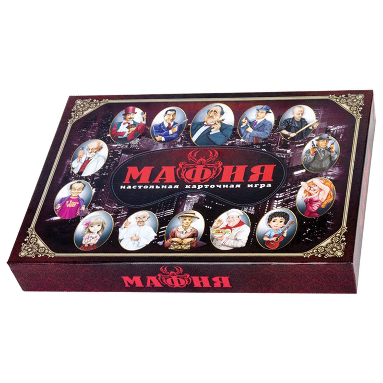 """Игра настольная карточная """"Мафия"""", с масками, 10 КОРОЛЕВСТВО"""