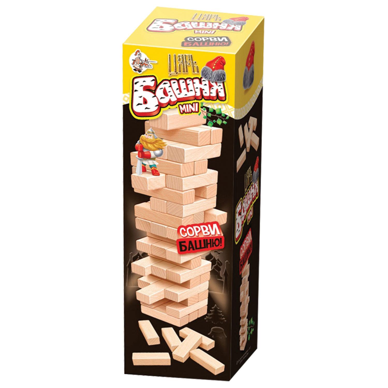 """Игра настольная """"Царь башня mini"""", неокрашенные деревянные блоки, 10 КОРОЛЕВСТВО, 2791"""