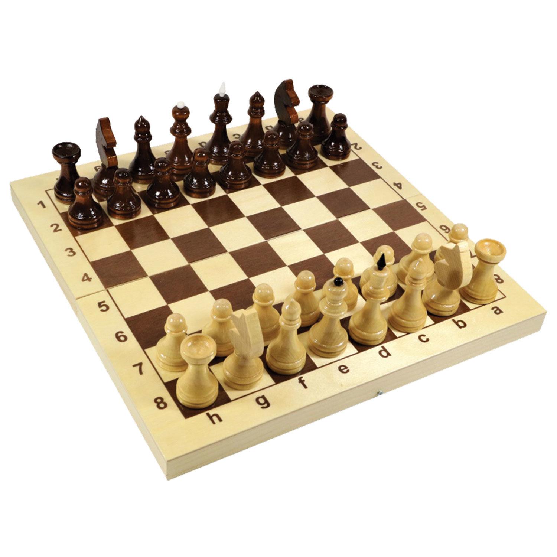 """Игра настольная """"Шахматы"""", 32 деревянные фигуры, деревянная доска 30х30, 10 КОРОЛЕВСТВО, 2845"""