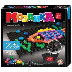 Мозаика фигурная, 225 элементов, 9 цветов, 2 черных поля, размер поля 20х23 см, 10 КОРОЛЕВСТВО