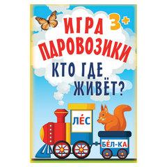 """Игра карточная """"Паровозики. Кто где живет?"""", Питер"""
