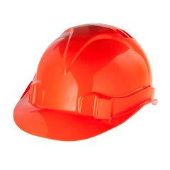Каска защитная СИБРТЕХ, ударопрочный пластик, размер 52-66, оранжевая