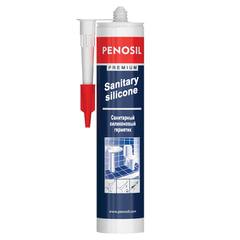 Герметик PENOSIL, силиконовый, санитарный, цвет белый, картридж под пистолет, объем 310 мл