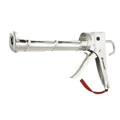 """Пистолет для герметика, 310 мл, """"полуоткрытый"""", MATRIX, хромированный, зубчатый шток 7 мм"""