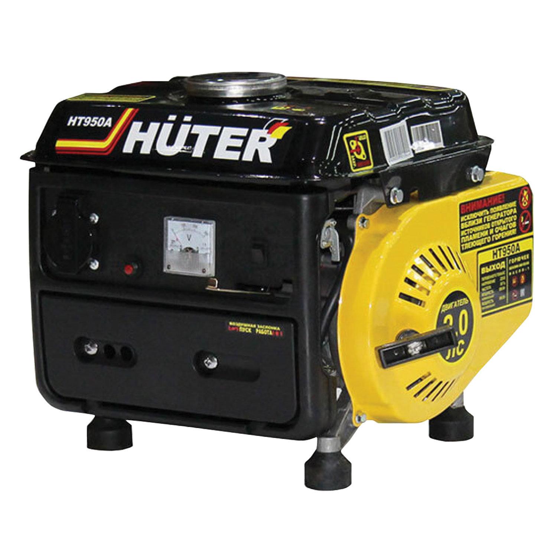 Электрогенератор Huter HT950A, бензиновый, мощность 0,95 кВт, напряжение 220 В, ручной стартер