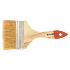 """Кисть плоская, 4"""" (100 мм), натуральная щетина, деревянная ручка, SPARTA, масляные краски, лаки"""
