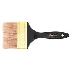 """Кисть плоская, 4"""" (100 мм), Профи, натуральная щетина, деревянная ручка, MATRIX, масляные краски, лаки"""