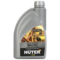 Масло моторное полусинтетическое, для двухтактных двигателей, 1 литр, HUTER 2T, 73/8/3/2