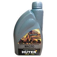 Масло моторное полусинтетическое, для четырехтактных двигателей, 1 литр, HUTER 10W-40