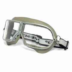 Очки защитные закрытые РОСОМЗ ЗП1 Patriot, прозрачные, прямая вентиляция, металлический держатель в корпусе из резины, минеральные стекла