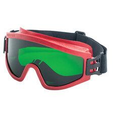 Очки защитные закрытые РОСОМЗ ЗП2 Super Panorama, зеленые, прямая вентиляция, незапотевающее покрытие, ацетат целлюлозы
