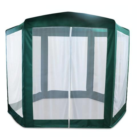 Шатер-тент садовый, 2500х2500х2200 мм, 6-ти гранный, d трубы - 16 мм, зеленый, ARNO