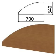"Экран-перегородка ""Монолит"", 700х16х340 мм, цвет орех гварнери (КОМПЛЕКТ)"
