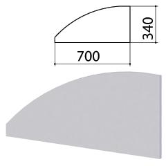 "Экран-перегородка ""Монолит"", 700х16х340 мм, цвет серый (КОМПЛЕКТ)"