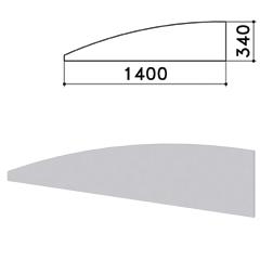 "Экран-перегородка ""Монолит"", 1400х16х340 мм, цвет серый (КОМПЛЕКТ)"