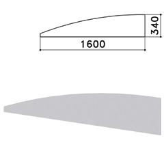"Экран - перегородка ""Монолит"", 1600х16х340 мм, цвет серый (КОМПЛЕКТ)"