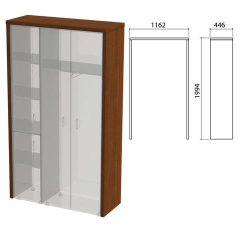 """Декоративное обрамление шкафов """"Приоритет"""", 1162х446х1994 мм, ноче милано (КОМПЛЕКТ)"""