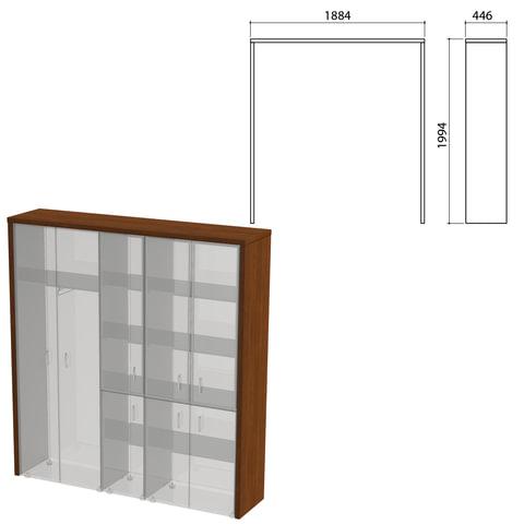 """Декоративное обрамление шкафов """"Приоритет"""", 1884х446х1994 мм, ноче милано (КОМПЛЕКТ)"""