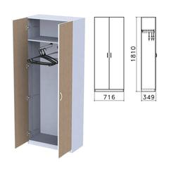 "Шкаф для одежды ""Бюджет"", 716х349х1810 мм, орех онтарио (КОМПЛЕКТ)"