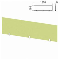 "Экран-перегородка ""Профит"", 1500х16х400 мм, зеленый (КОМПЛЕКТ)"