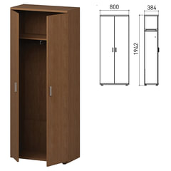 """Шкаф для одежды """"Профит"""", 800х384х1942 мм, орех онтарио (КОМПЛЕКТ)"""