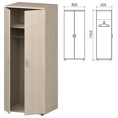 """Шкаф для одежды """"Профит"""", 800х600х1942 мм, дуб шамони (КОМПЛЕКТ)"""