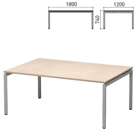 """Стол для переговоров """"Старк"""", 1800х1200х740 мм, дуб шамони (КОМПЛЕКТ)"""