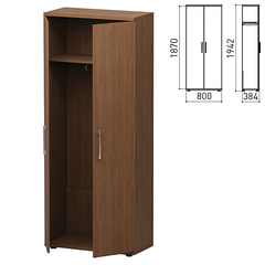 """Шкаф для одежды """"Старк"""", 800х384х1942 мм, орех онтарио (КОМПЛЕКТ)"""