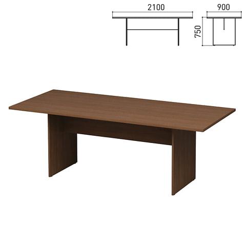"""Стол для переговоров """"Директ"""", 2100х900х750 мм, орех онтарио (КОМПЛЕКТ)"""