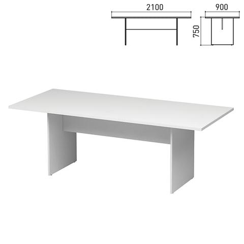 """Стол для переговоров """"Директ"""", 2100х900х750 мм, белый (КОМПЛЕКТ)"""