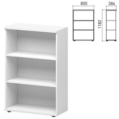 """Шкаф (стеллаж) """"Кубика"""", 800х384х1182 мм, белый"""
