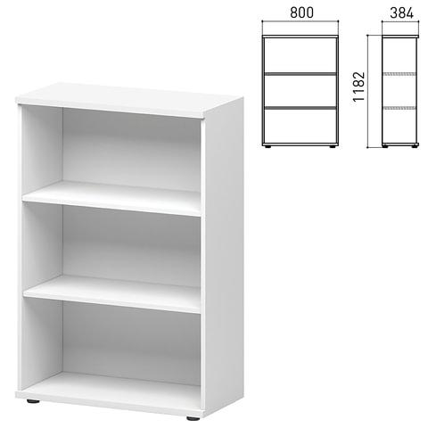"""Шкаф (стеллаж) """"Директ"""", 800х384х1182 мм, белый"""