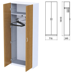 "Шкаф для одежды ""Бюджет"", 716х349х1810 мм, орех французский (КОМПЛЕКТ)"