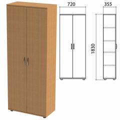 Шкаф закрытый «Эко», 720х355х1830 мм, 4 полки, бук бавария (КОМПЛЕКТ)