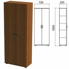 Шкаф закрытый «Эко», 720х355х1830 мм, 4 полки, орех (КОМПЛЕКТ)